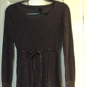 Daisy Fuentes purpled/silver long sweater. EUC